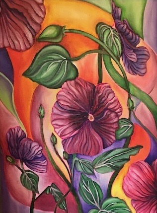 Dancing Hibiscus by Kelly Puent