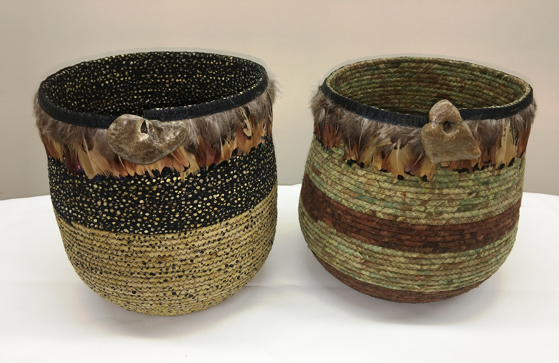 feather baskets